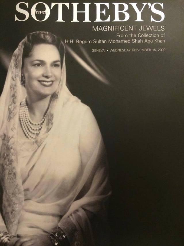 Yvette Labrousse Begum Om Habibeh Aga Khan Sotheby's