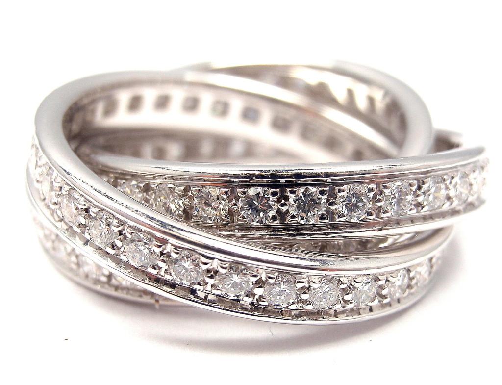 Cartier Trinity Ring White Gold Diamonds Briljant Yakymour