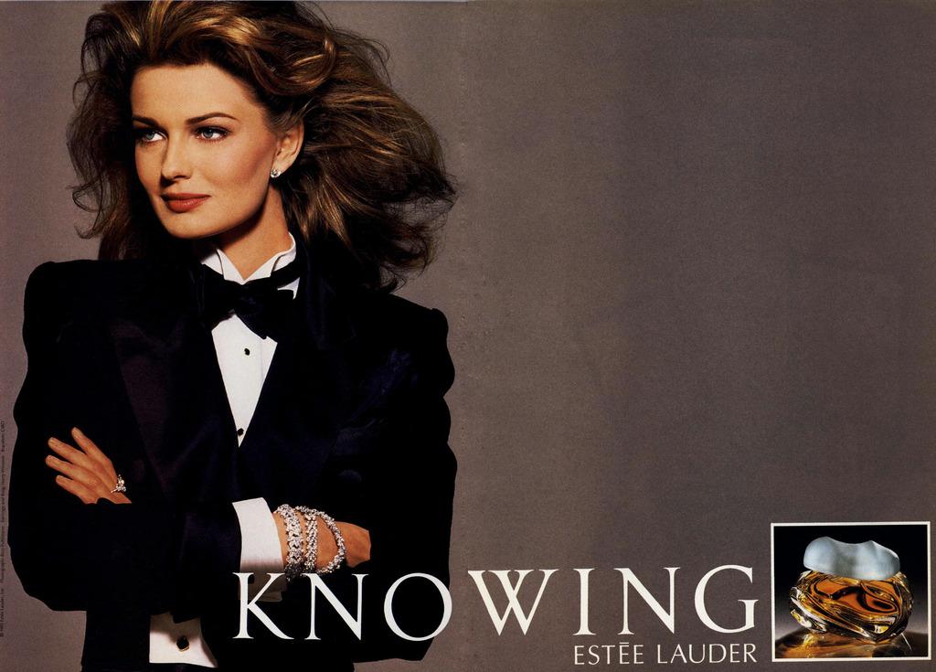 Estee Lauder Knowing Paulina Porizkova ad, 1994