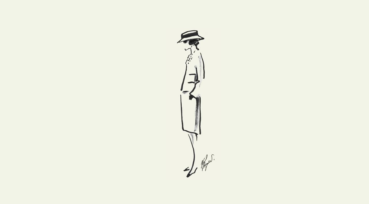 Coco Chanel esktop-background