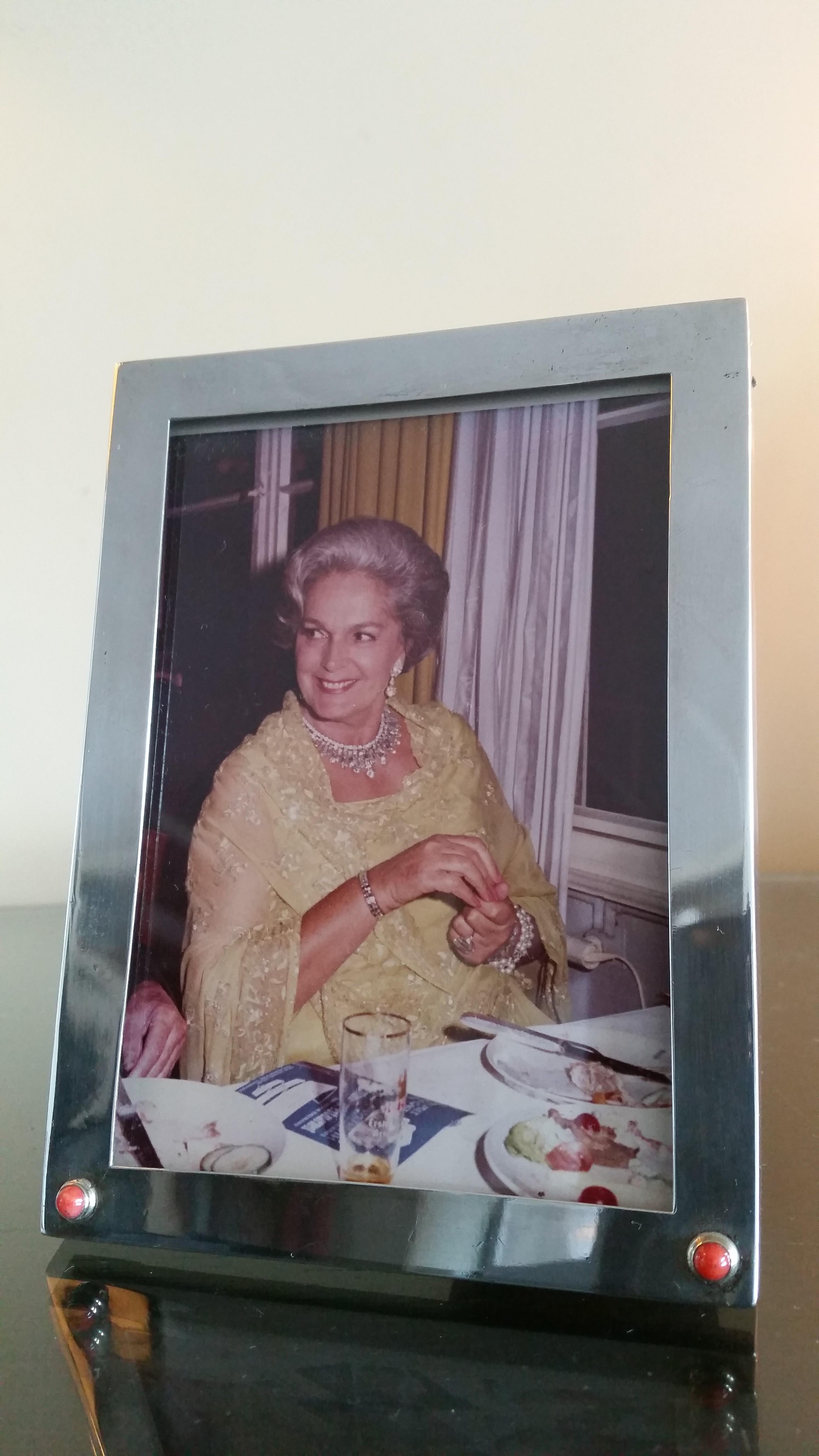 Begum Om Habibeh Aga Khan Yvette Labrousse Cartier sterling Picture Frame Art Deco
