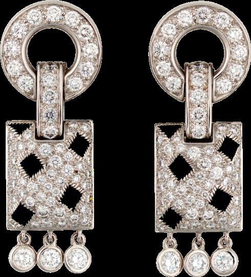 Cartier Panter Earrings Art Deco