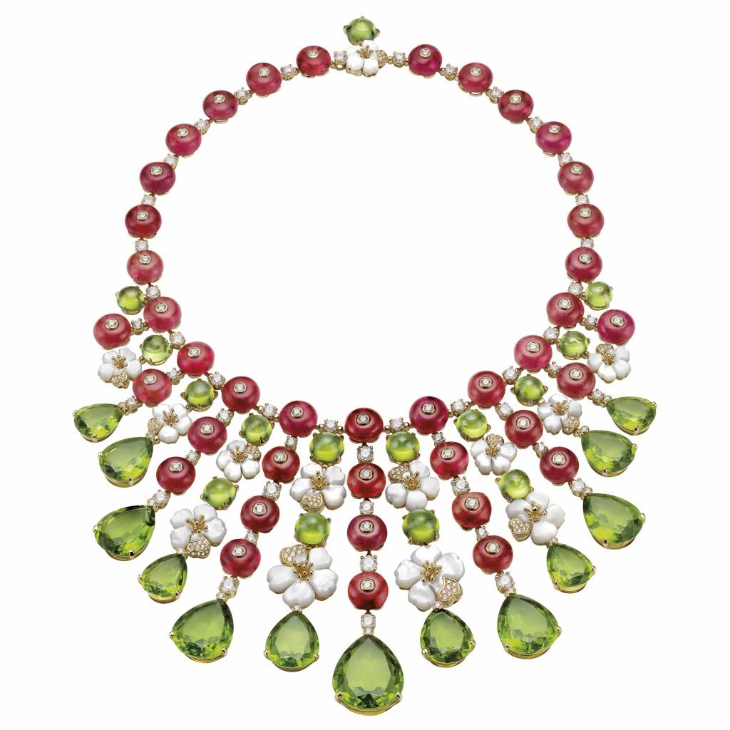 Bulgari Necklace Peridot Giardini Italiani collection