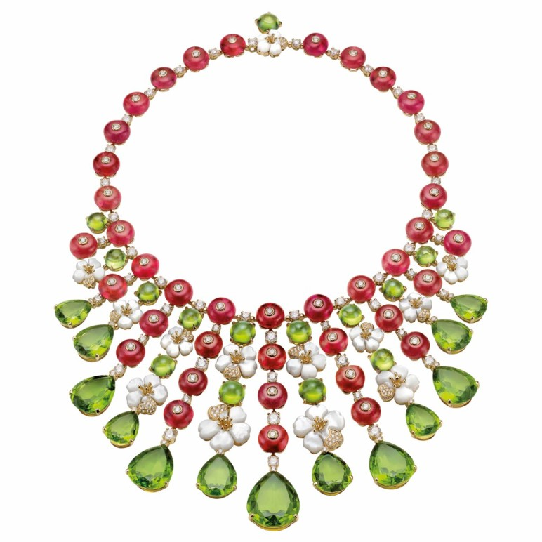 Bulgari Necklace Peridot Giardini Italiani collection