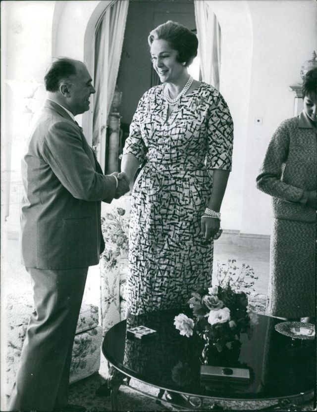 Begum Om Habibeh Aga Khan at Yakymour