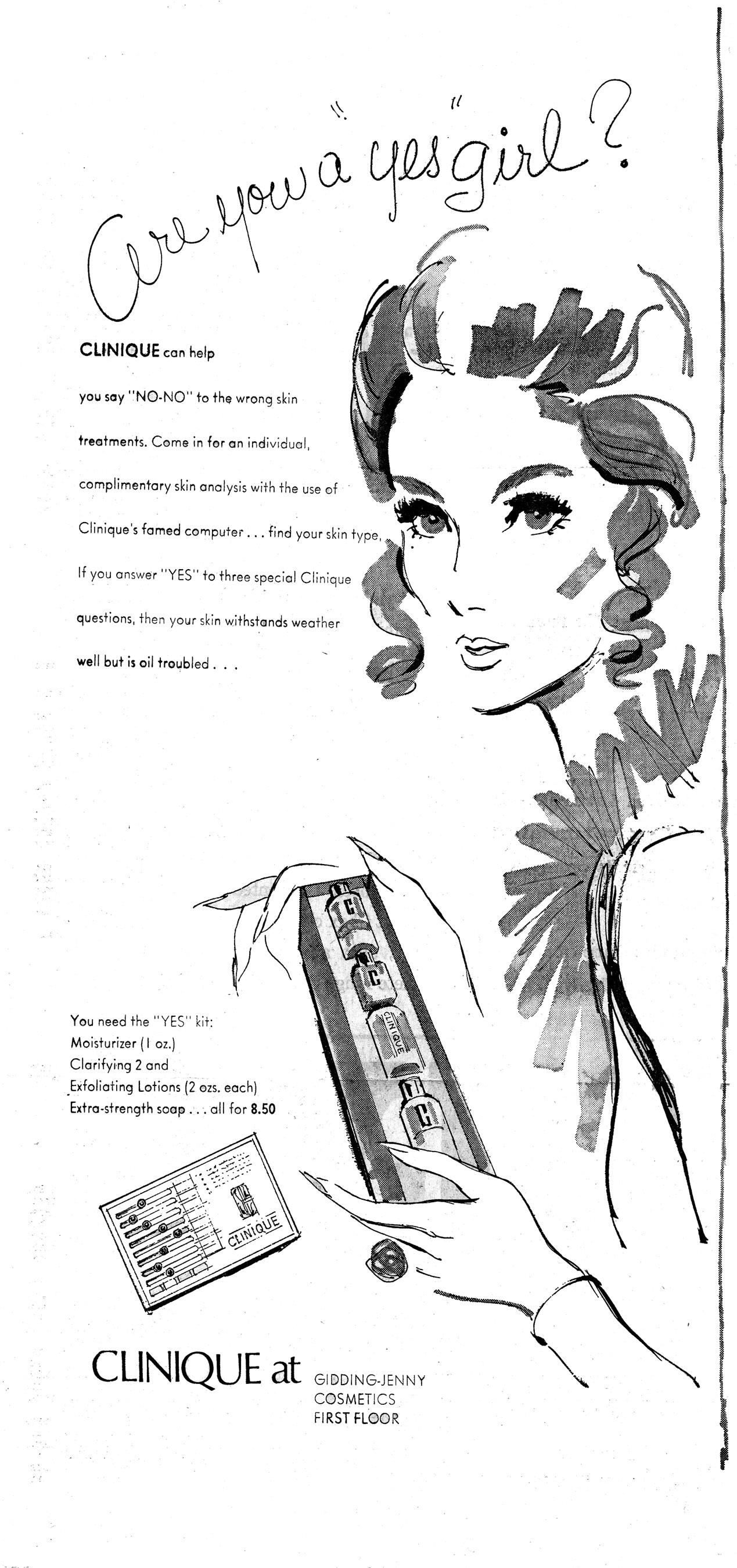Clinique vintage ad