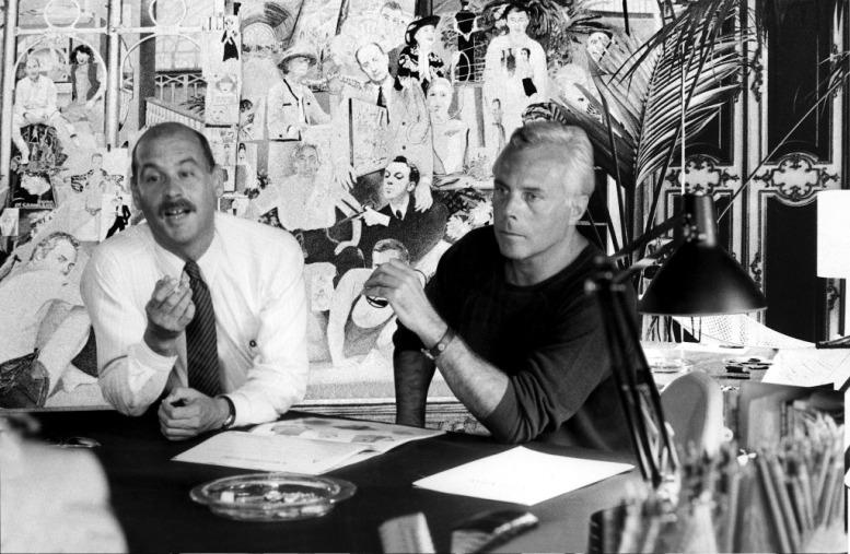 Sergio Galeotti and Giorgio Armani, 1978