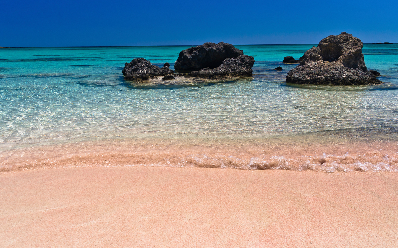 Pink-Elafonisi Beach-Island of Crete-Greece