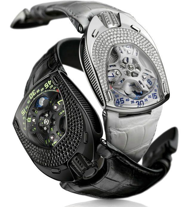 URWERK UR-106 Lotus Watch Black White