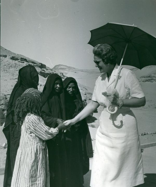 Begum Om HabibehAga Khan Yvette Labrouse Aswan