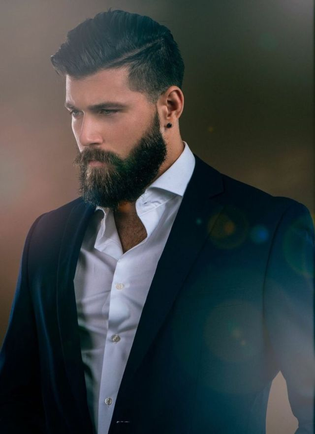 Man Beard Handsome Hairy Bear Classic Dressed