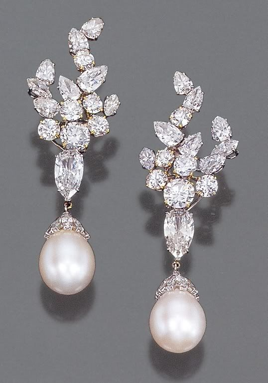 Begum Om Habibeh Aga Khan Yvette Labrousse Earrings Diamond