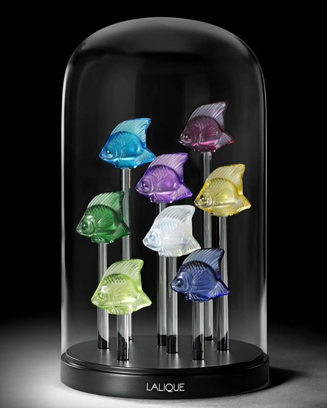 Lalique Fish Dome Colors