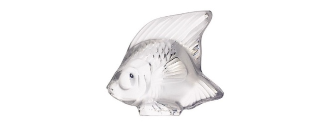 Lalique Fish Clear White