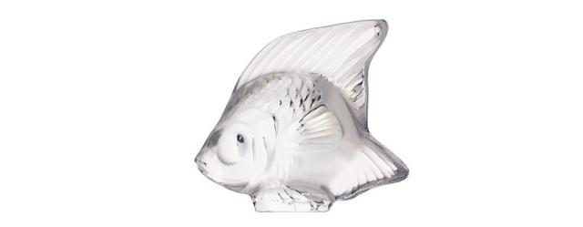 Lalique Fish Clear White