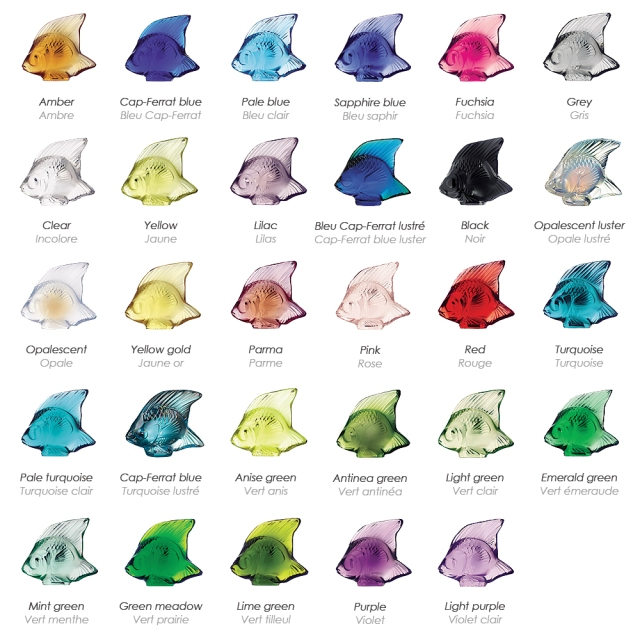 Lalique Fish Colors