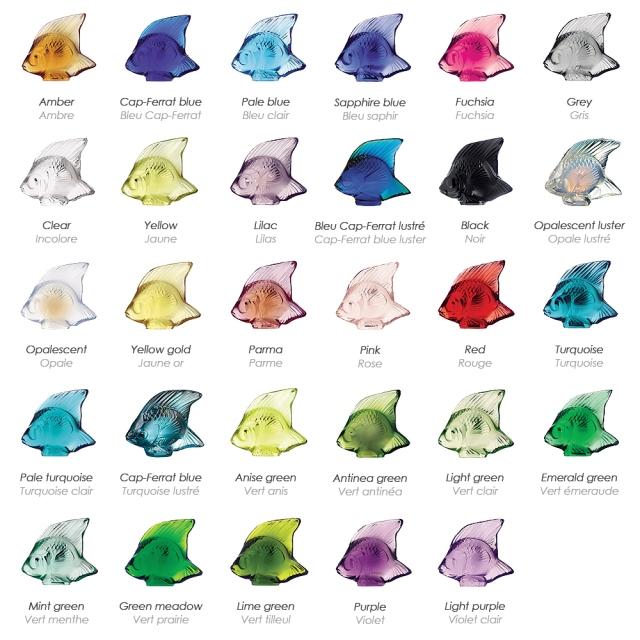 Lalique Fish Colors