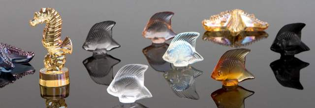Lalique Fish Seahorse