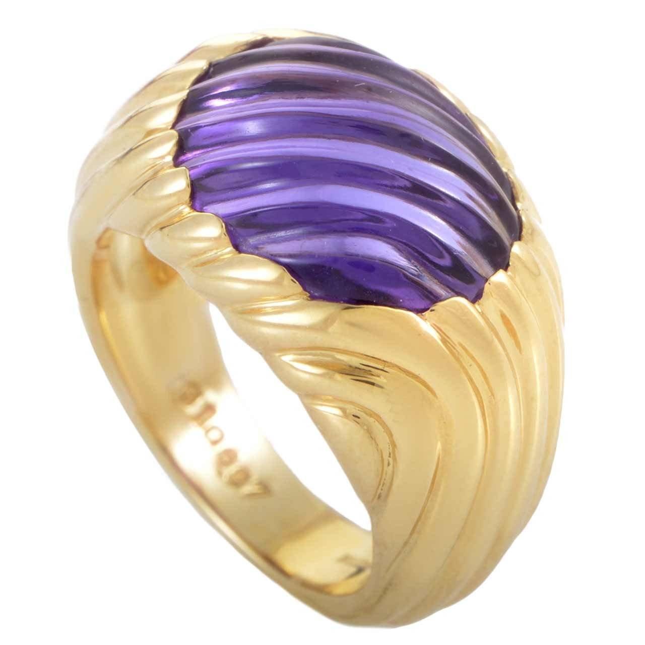 Boucheron Amethyst Gold Band Ring