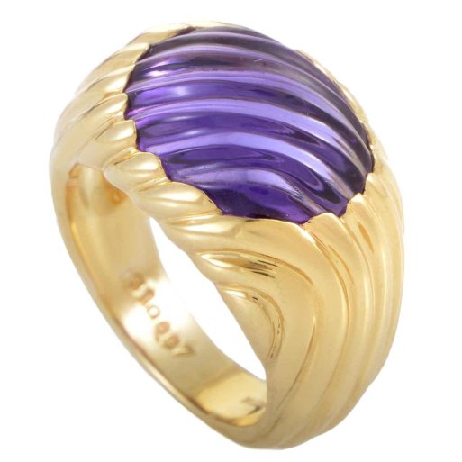 Boucheron Amethyst Gold Band Ring