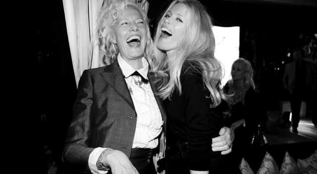 Claudia Schiffer and Ellen Von Unwerth at the Guess 30th Anniversary Celebration at Hotel George V, Paris. Photo Saskia Lawaks