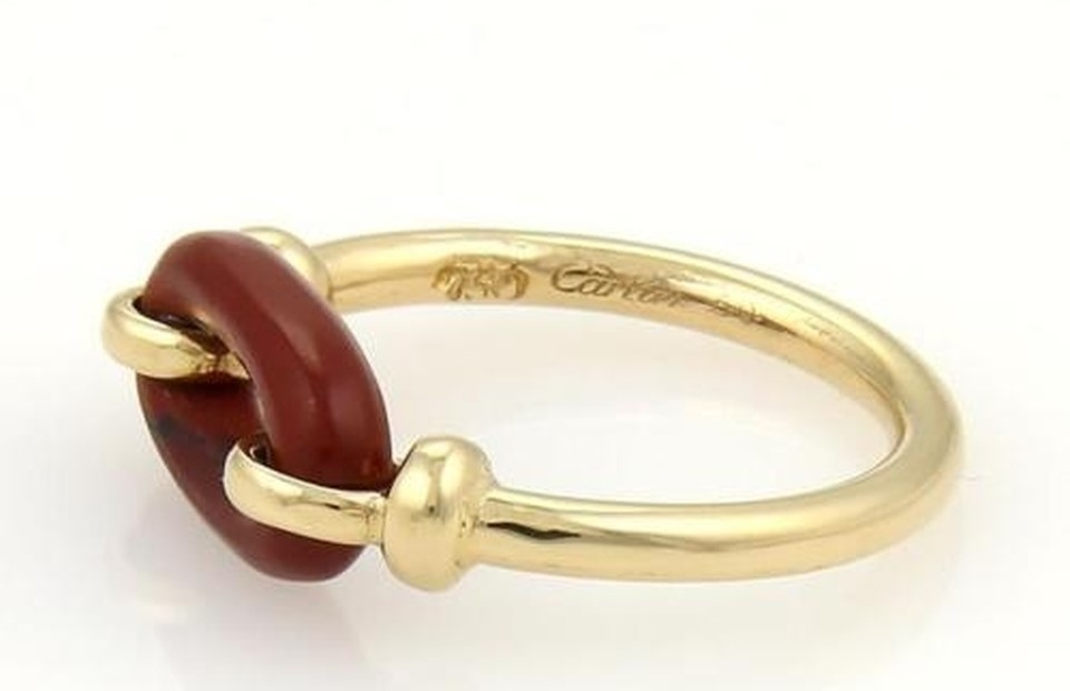 Cartier Vintage 18k Yellow Gold Bloodstone Ring
