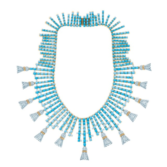 Tiffany Co necklace turquoise diamonds Jean Schlumberger