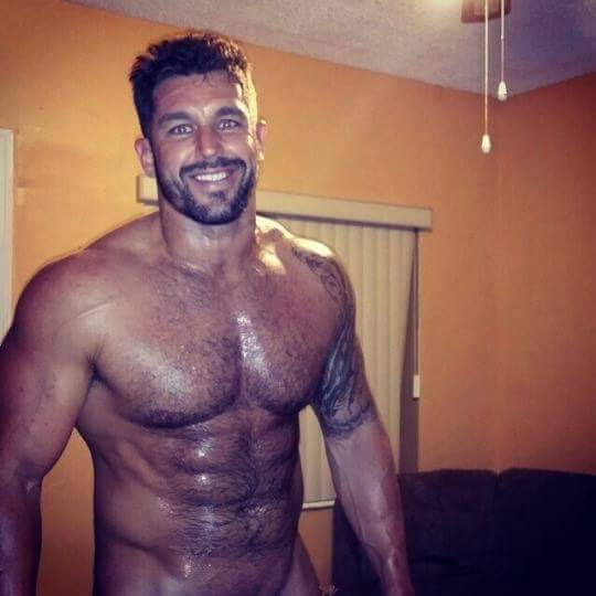 Handsome Hairy Muscle Man Naked
