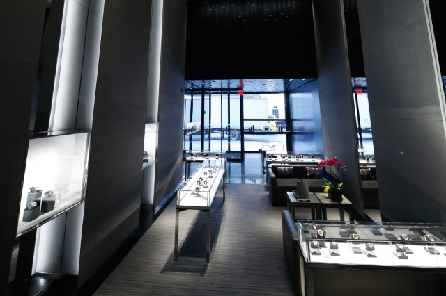 Inside the Hublot Fifth Avenue flagship.