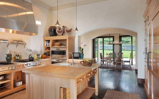 Robin Williams Napa Estate Villa Sorriso Kitchen 3