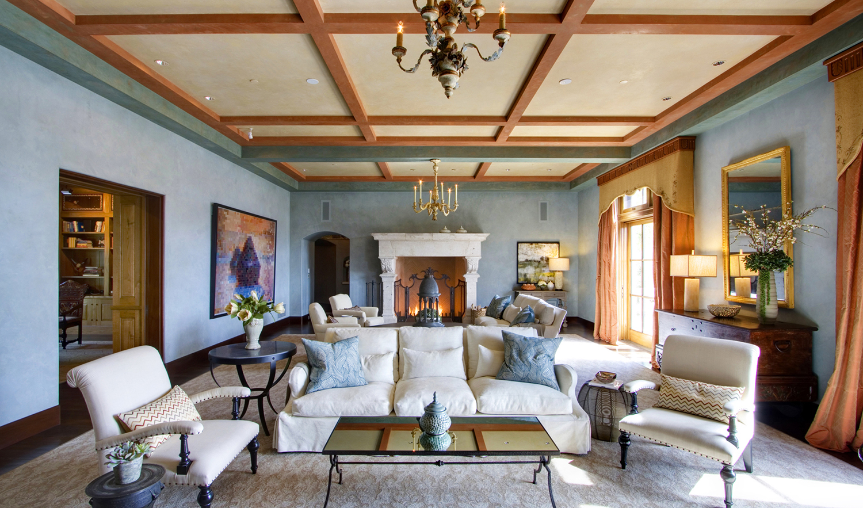 Robin Williams Napa Estate Villa Sorriso Living Room