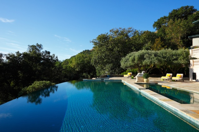 Robin Williams Napa Estate Villa Sorriso pool 3