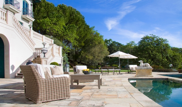 Robin Williams Napa Estate Villa Sorriso Road Pool