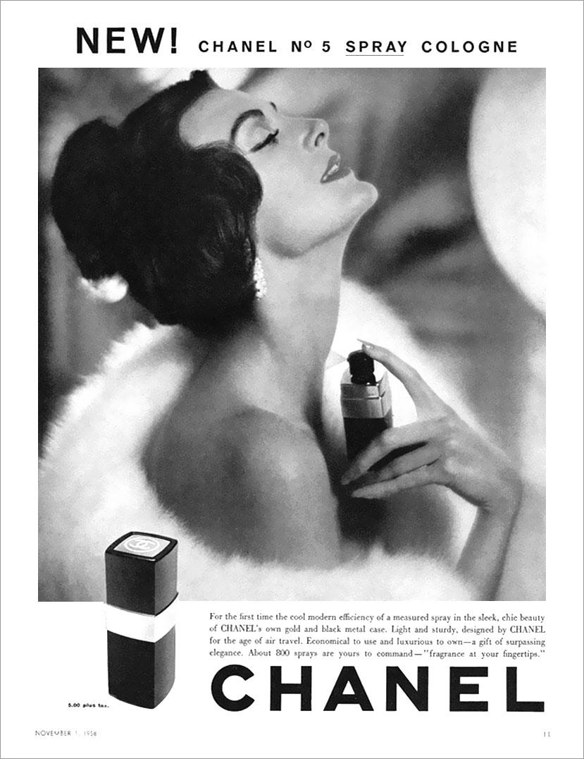Carmen-Dell'Orefice-1958-Chanel-No-5-Ad