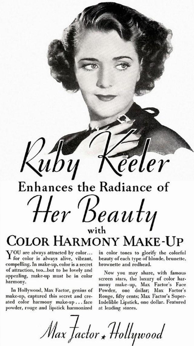Max Factor Ruby Keeler Makeup, 1935