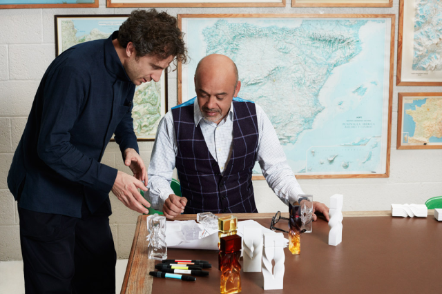 Christian Louboutin working with designer Thomas Heatherwick on concepts for the fragrance bottle..png