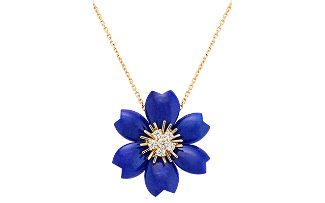 Van Cleef & Arpels Rose de Noël blue clip pendant.jpg