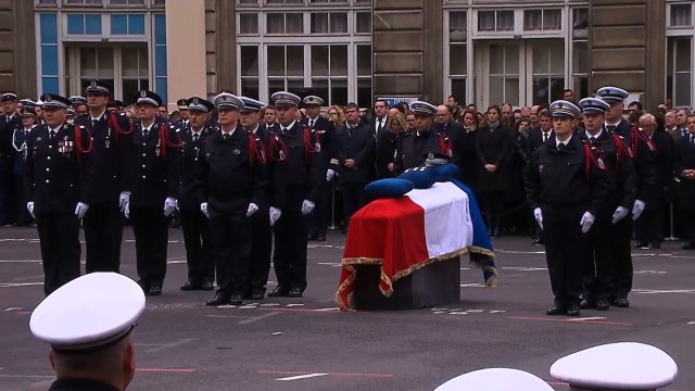 Husband of murdered Paris police officer delivers moving eulogy