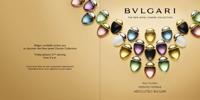 Bvlgari Jewel Charms Collection invitation2