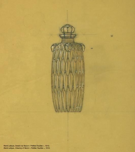 Lalique Flacon Petites Feuilles sketch