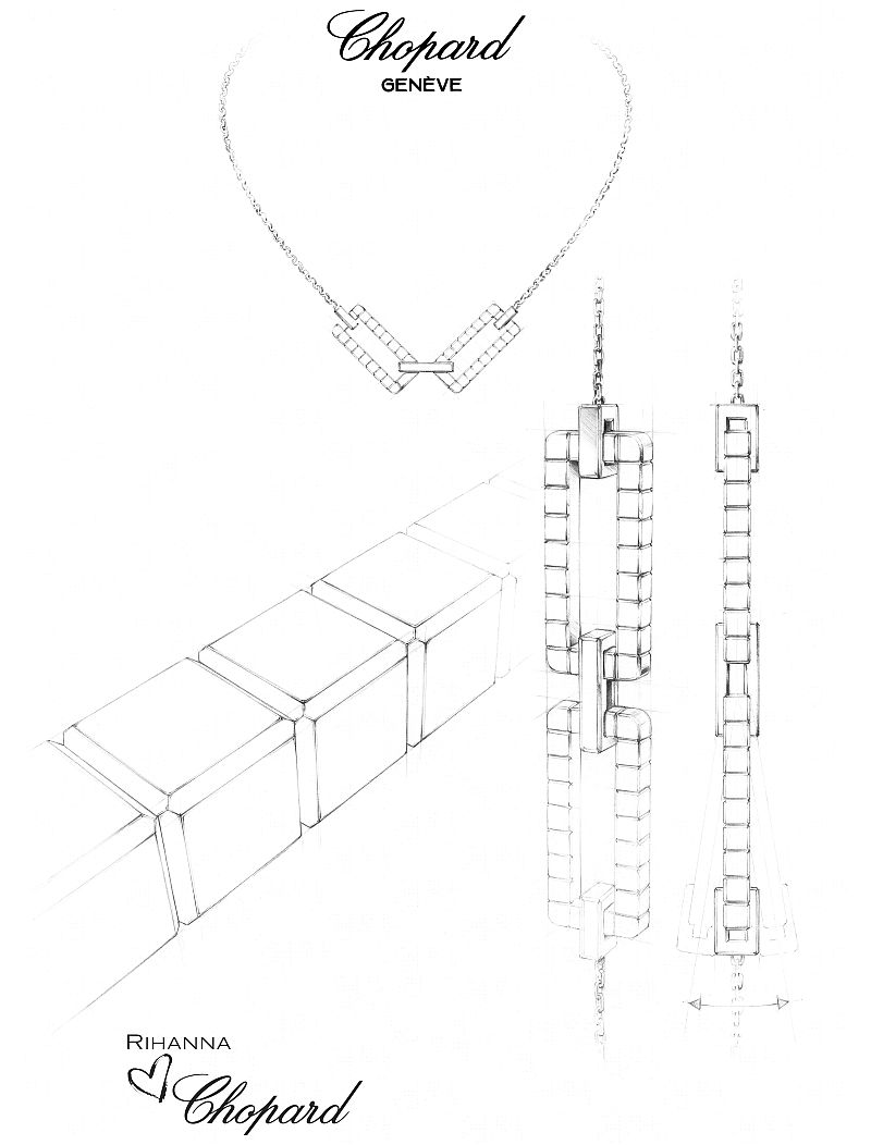 RIHANNA-♥-CHOPARD-Joaillerie-collection-sketch