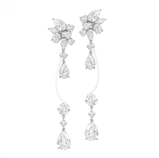 Rihanna Loves Chopard Haute Joaillerie Collection Diamond Earrings
