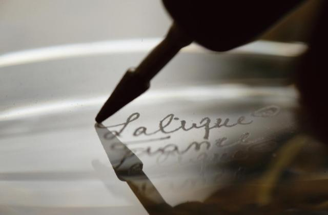 Lalique signed signature