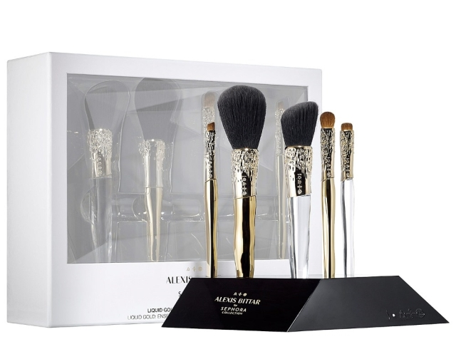 Sephora-Collection-Alexis-Bittar-Liquid-Gold-Beauty-Brush-Set-Stand