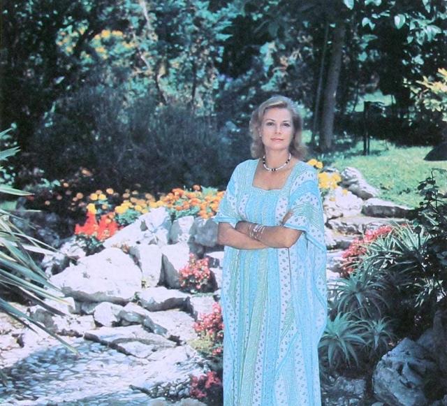 Princess Grace of Monaco in her garden