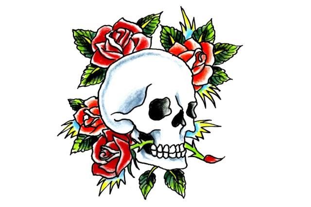 Ed Hardy Skulls & Roses Tattoo