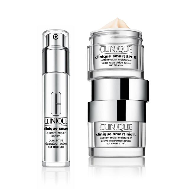 Clinique Smart Custom Repair Serum and creams