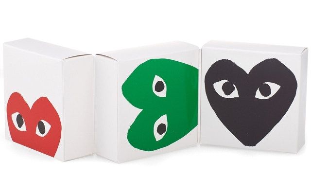 Comme des Garcons Play Black, Green and Red Box