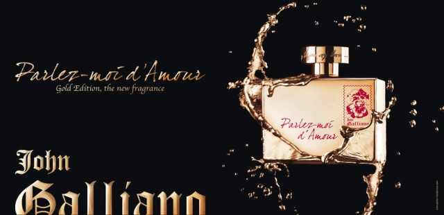 John Galliano Parlez-Moi d_Amour Gold Edition Banner