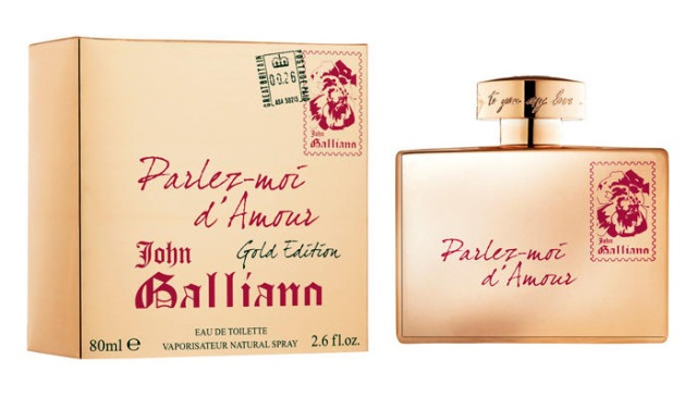 John Galliano Parlez-Moi d_Amour Gold Edition Bottle Box